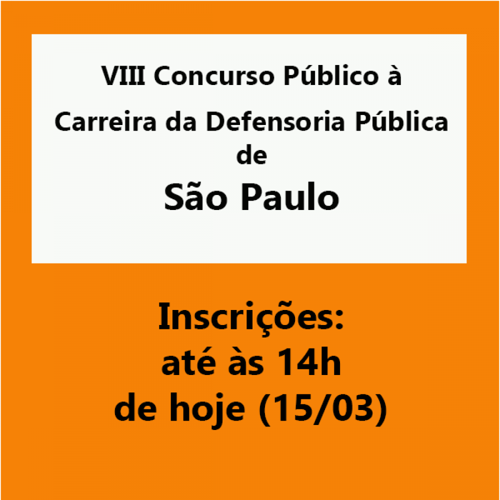 2019.03.15 - concurso Defensoria SP