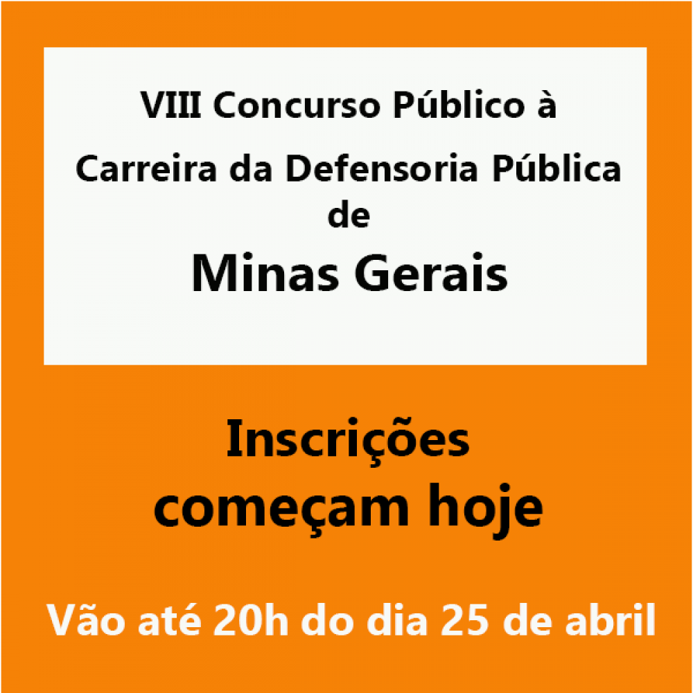 2019.03.25 - concurso Defensoria Minas