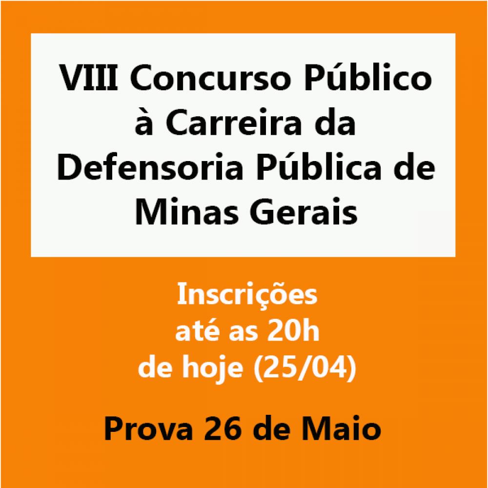 2019.04.25 - concurso Defensoria Minas