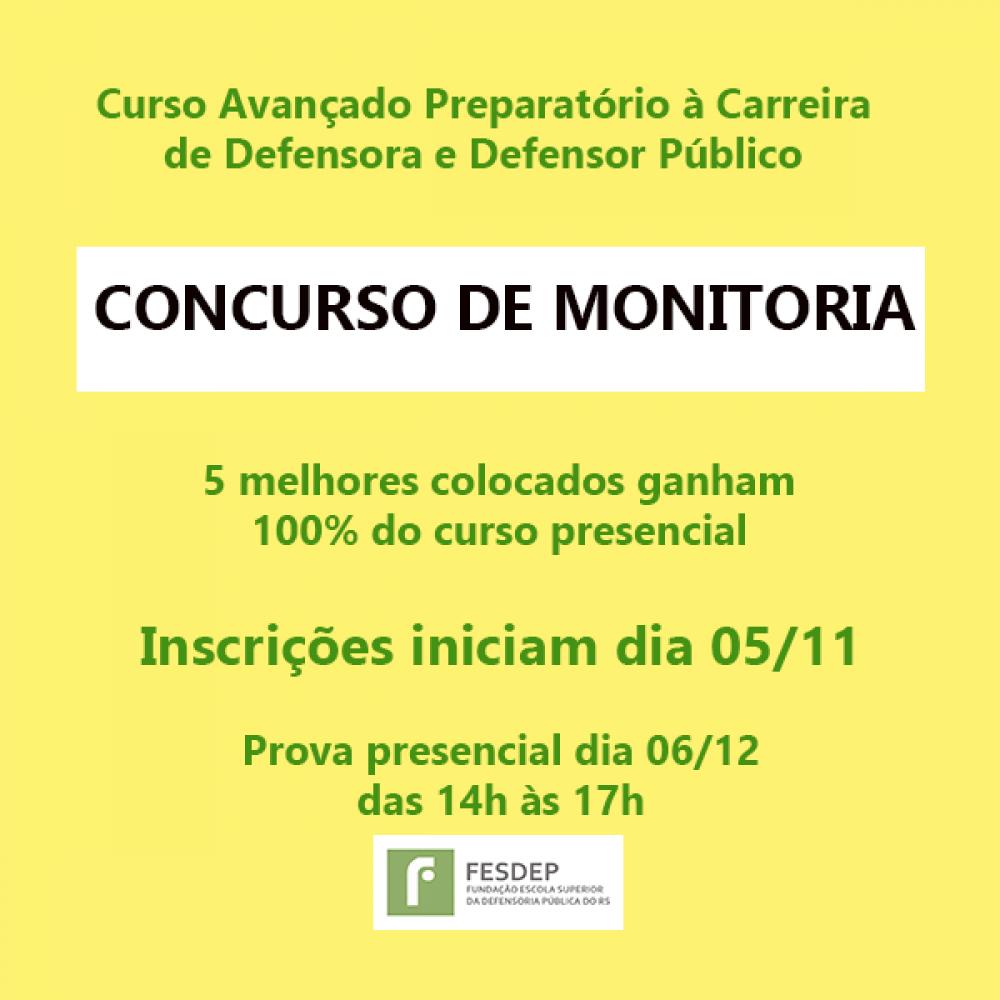 2019.11.04 - Concurso de Monitoria