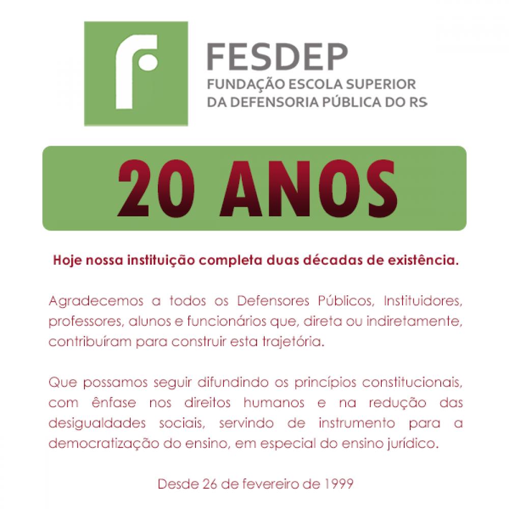 20 anos FESDEP