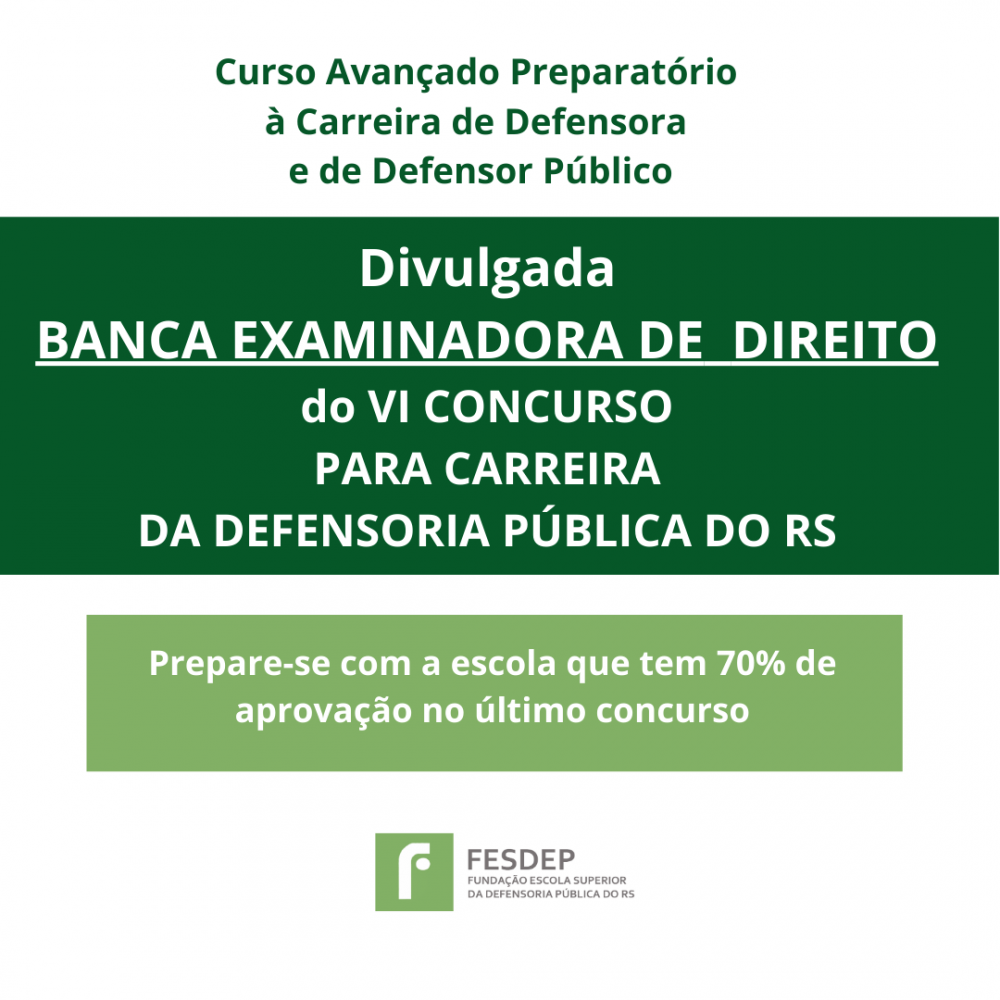 REGULAMENTO PUBLICADO PARA O VI CONCURSO PARA CARREIRA DA DEFENSORIA PUBLICA DO RS 1